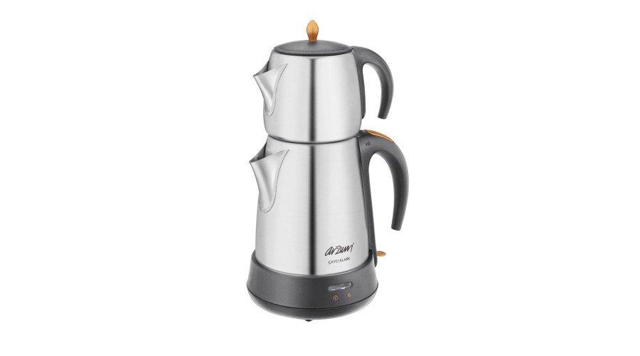 Arzum AR3004 Çaycı Klasik Çay Makinesi - Mat Inox