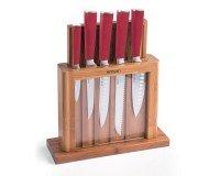 Emsan Matriks 7 Parça Bıçak Seti Kırmızı