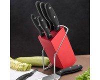 Emsan Mia 6 Parça Bıçak Seti Kırmızı