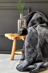 Karaca Home Raven Siyah Çift Kişilik Soft İspanyol Battaniye