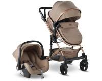 Babyhope BH-3007 Runner Trio Travel Sistem Bebek Arabası Gold