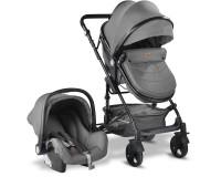 Babyhope BH-3007 Runner Trio Travel Sistem Bebek Arabası Gri