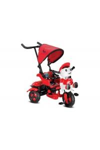 BabyHope 125 Yupi Panda 3 Tekerli Çocuk Bisikleti Kırmızı Siyah