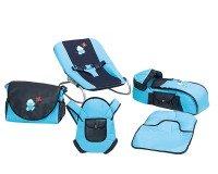Happy Baby Class 5li Bebek Bakım ve Taşıma Seti Mavi Lacivert