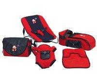 Happy Baby Class 5li Bebek Bakım ve Taşıma Seti Kırmızı Lacivert