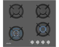 Simfer 3032 Wok Gözlü Siyah Cam Set Üstü Ocak